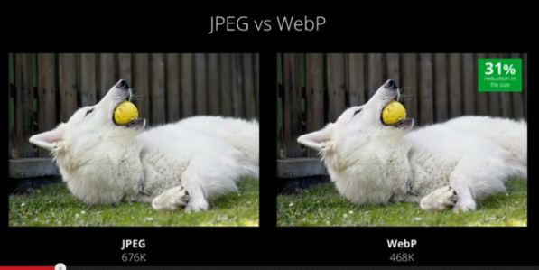 google webp comparison