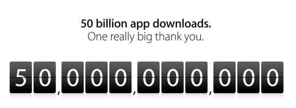 50Billion apps downloaded from apple app store