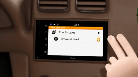 Parrot's ASTEROID Smart Car entertainment system.