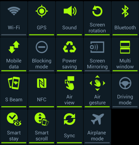 Turn off extra features to save battery life.