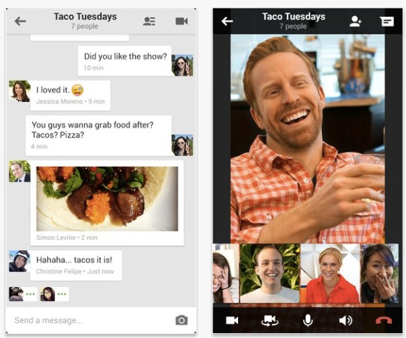 Google Hangouts replaces Google Talk and comes to iPhone and Android.