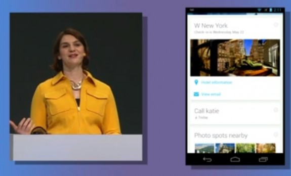 Google Now Reminders arrive to keep users on track.