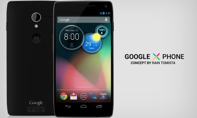 A Google X Phone Concept shows off a possible look for Google's Motorola X Phone.
