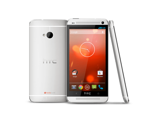 This is the HTC One Nexus (Google Edition.)