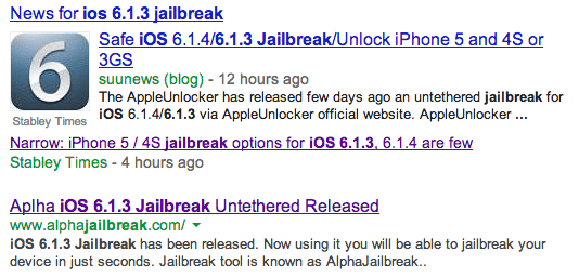 Don't fall for iOS 6.1.3 jailbreak offers for the iPhone 5, iPad 4 and iPad mini.