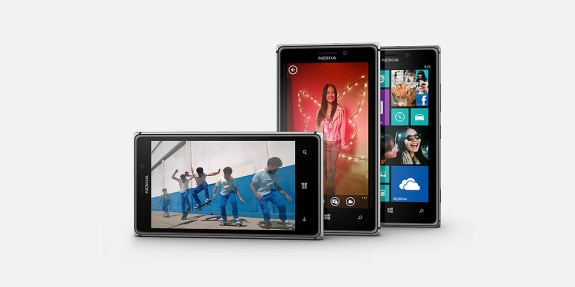 The Nokia Lumia 925, with it's new Smart Cam application pictured.