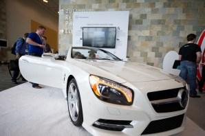 A Mercedes SL featuring Google Maps and other advanced services