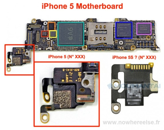 This alleged iPhone 5S motherboard part may connect to cameras, giving weight to iPhone 5S camera rumors which claim improved specs and smaller sizes.