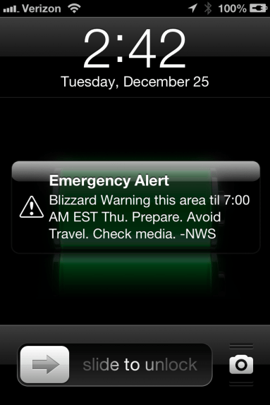 iOS Weather Alert