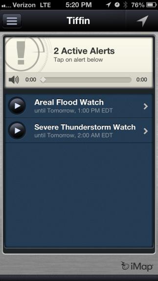 Weather Radio Alert