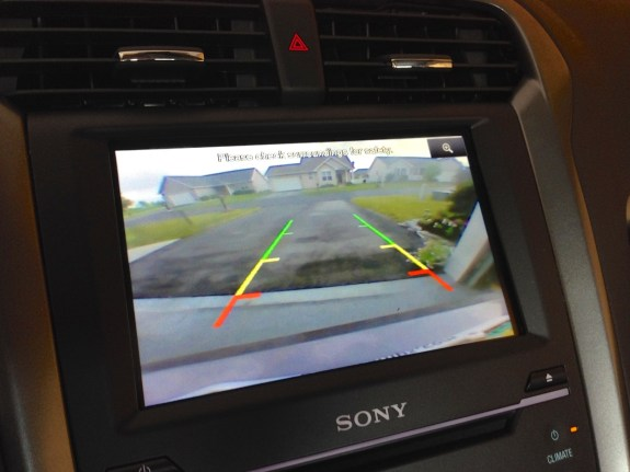 The backup camera is an excellent option.