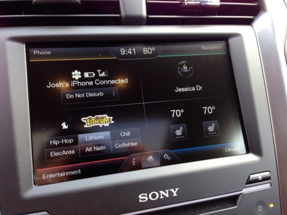 MyFord Touch on the 2013 Ford Fusion.