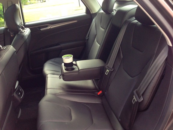 2013 Ford Fusion backseat.
