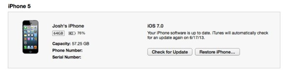 The last major step to downgrade from iOS 7 to iOS 6.