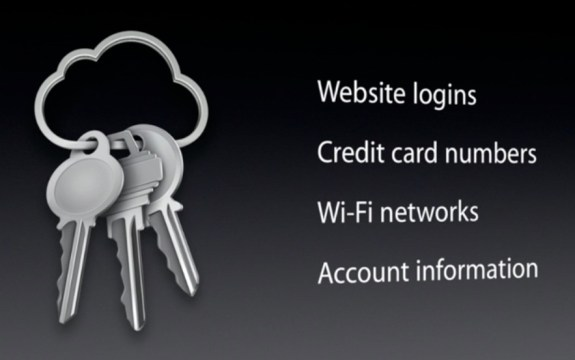 iCloud keeps credit cards on the iPhone