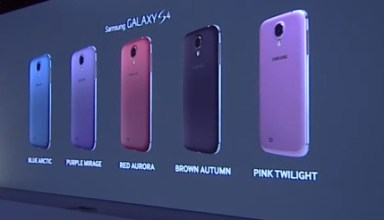 Five new colors will arrive soon for the Samsung Galaxy S4.
