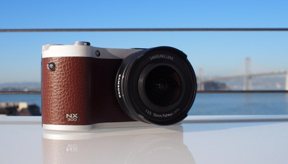 Samsung's current mirrorless NX300 smart camera with interchangeable lenses comes with WiFi, but no Android under the hood.