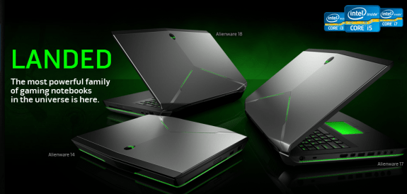 Alienware's 2013 lien of portable gaming machines.