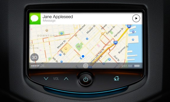In iOS 7 the iPhone will connect to the dash systems on many 2014 model cars.
