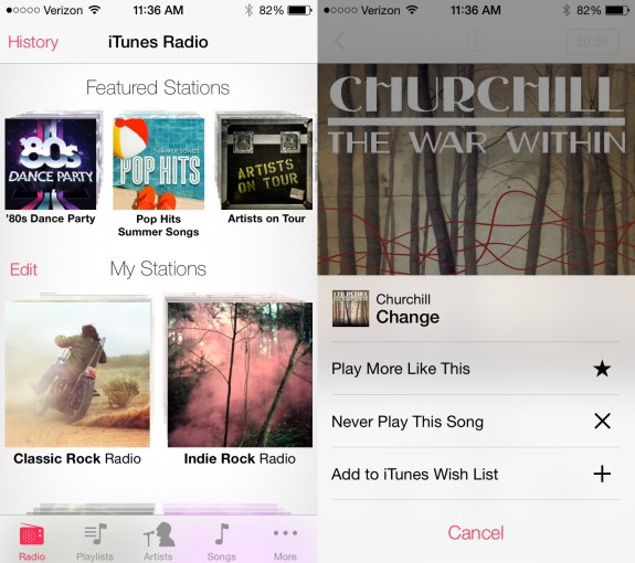 iTunes Radio is a part of iOS 7 and should arrive for all iPhone and iPad users this fall.