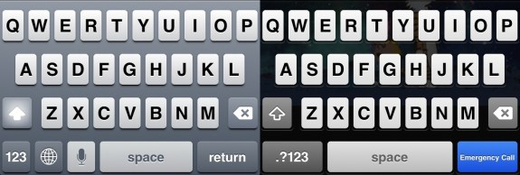 The new iOS 7 keyboard could come in light and dark themes.