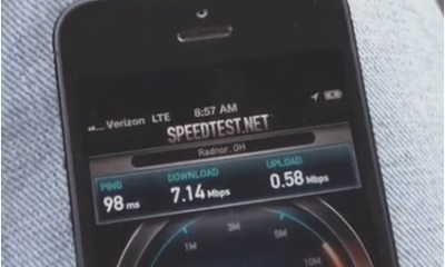 Supercharge iPhone 5 speeds.