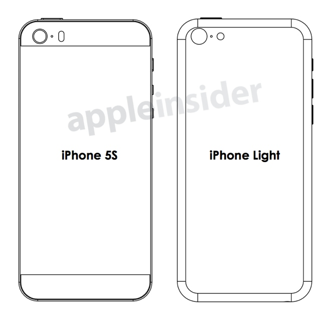 Iphone 5s blueprints show what case makers think apple is planning a case maker plans for an iphone 5s with a pill shaped dual led malvernweather Gallery