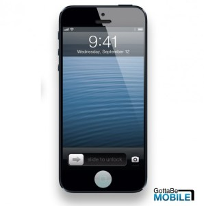 An iPhone 5S concept with a fingerprint reader.