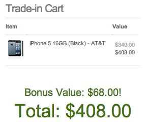 Score an iPhone trade in bonus of 20%.