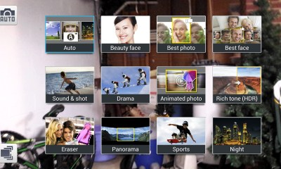 grid view of galaxy s4 camera