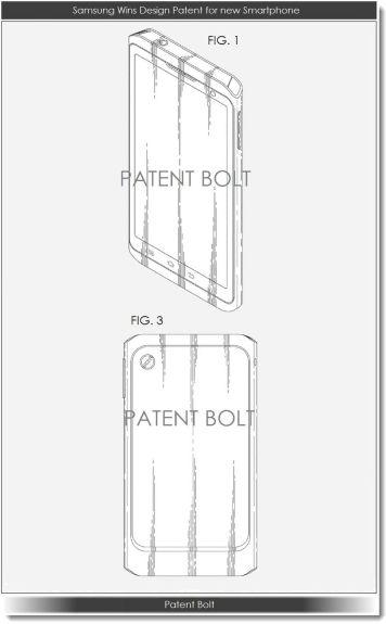 Samsung design patent, via Patent Bolt