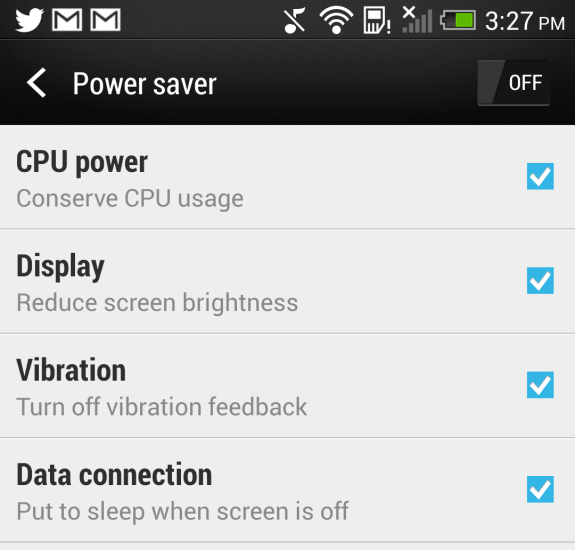 Quick tip to better HTC One battery life.