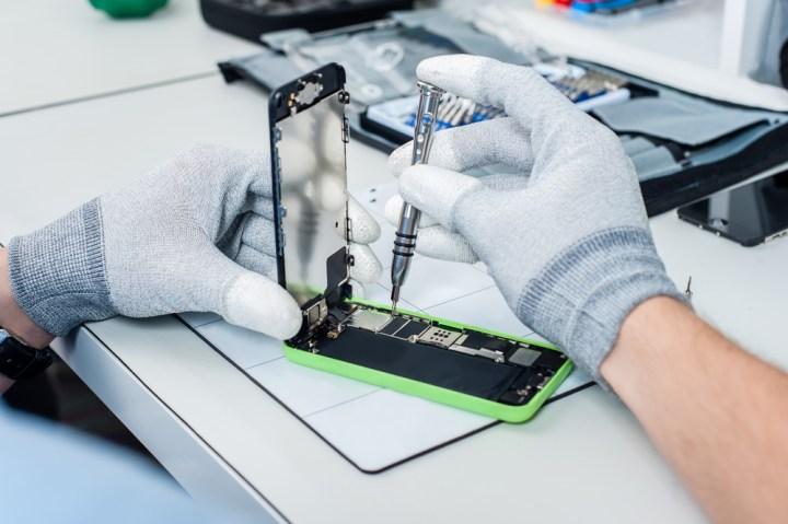 Find a local repair shop to fix your broken smartphone screen.