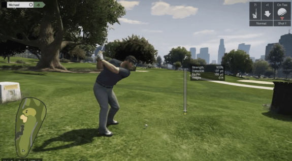 GTA 5 golf, tennis and cycling are built-in.