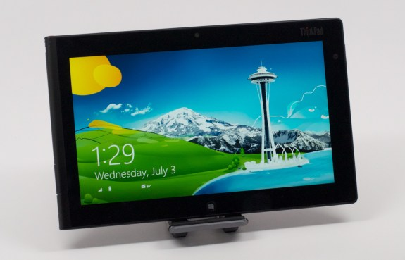 The ThinkPad Tablet 2 is a slim, light mobile productivity tablet with Windows 8.