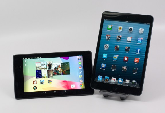 The Nexus 7 display is better than the iPad mini's.