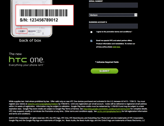 This may or may not be insight into the Verizon HTC One release.