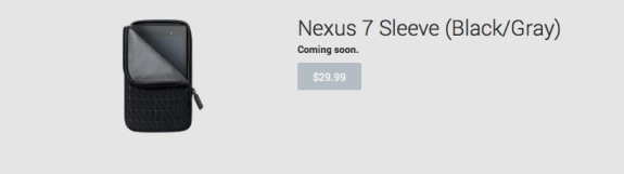 The new Nexus 7 saw its first accessory emerge today.