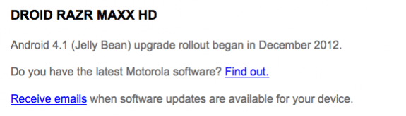 Motorola hasn't even confirmed Android 4.2 yet.