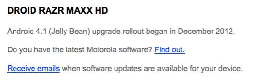 Motorola hasn't even confirmed Android 4.2 yet.