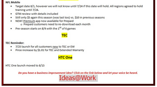 The Verizon HTC One release date is pushed back two weeks according to a new leak.