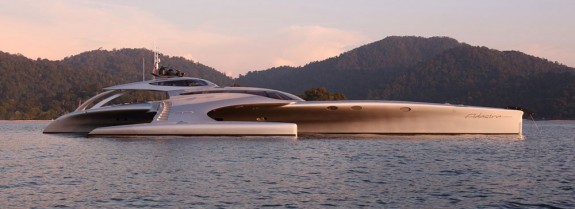 The Adastra, a yacht that features a fully controllable iPad remote.