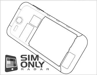 This sketch shows the backside of the device, including Xenon flash.
