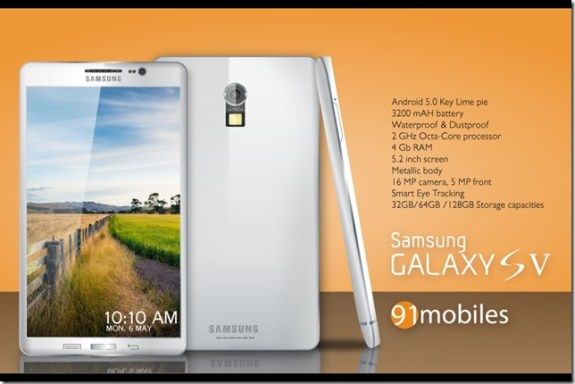 This Samsung Galaxy S5 concept boasts features that could arrive with the real thing.