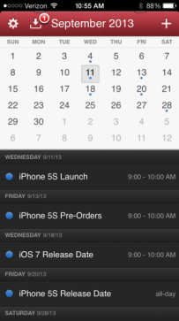 Possible iPhone 5S release date timing.