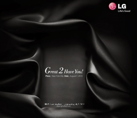 LG Great 2 Have You Invitation for August 7th.