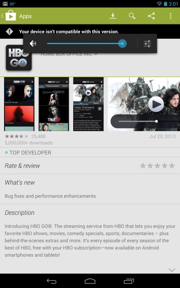 hbo go in google play