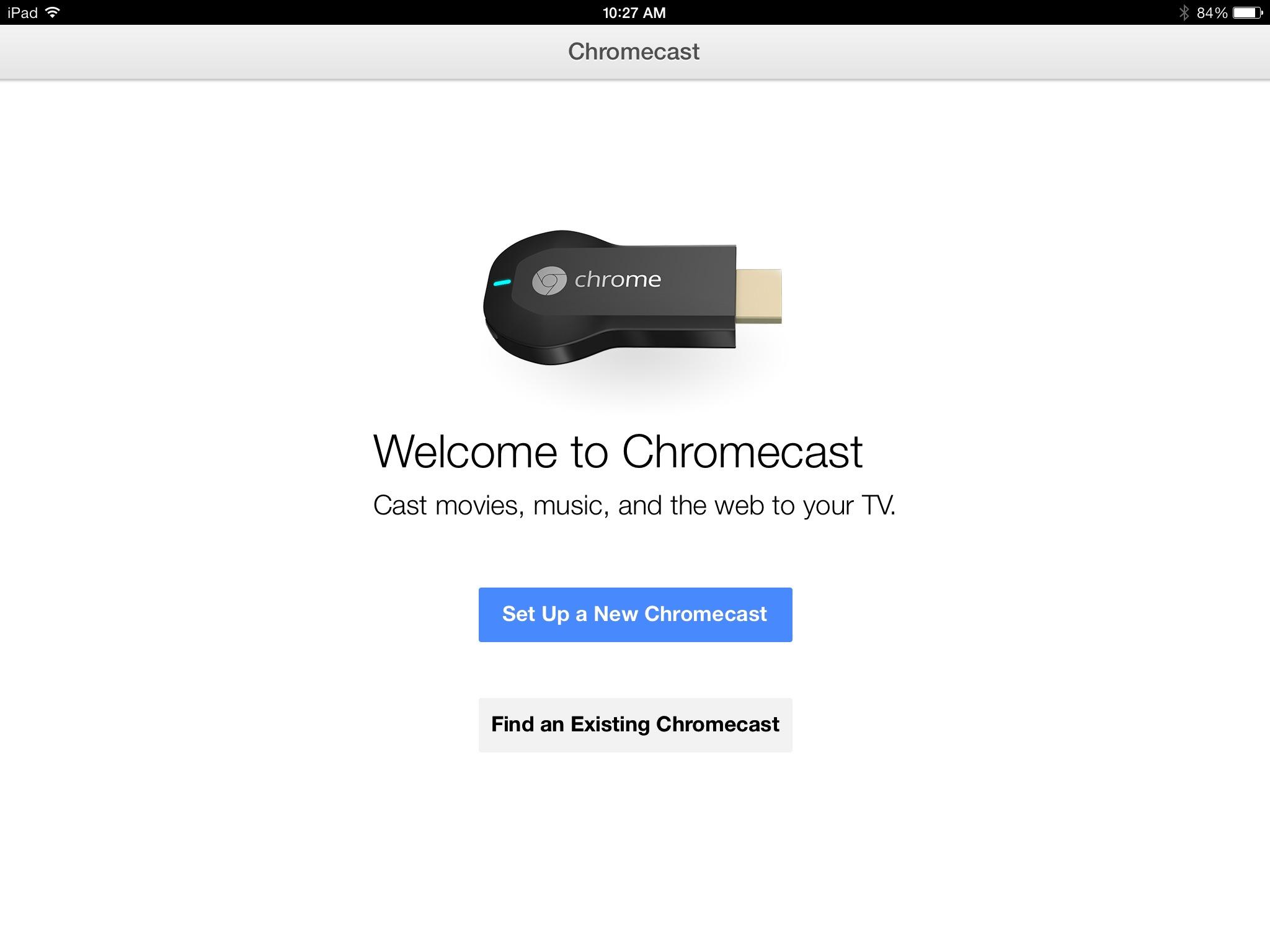 Chromecast App for iPhone and iPad Arrives