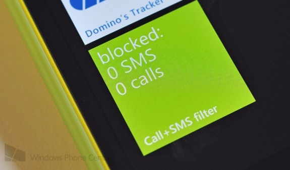 A screenshot of the new calling and SMS blocking features from Windows Phone Central.