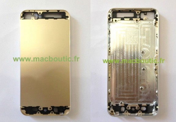 Gold iPhone 5S parts have leaked out prior to Apple's launch.